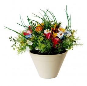 Blumenarrangement mit Keramiktopf